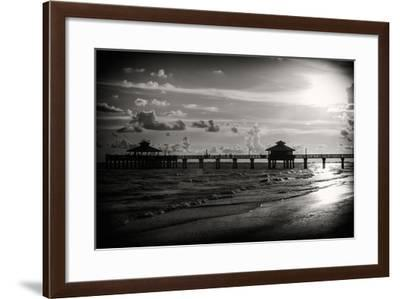 Fishing Pier Fort Myers Beach at Sunset - Florida-Philippe Hugonnard-Framed Photographic Print