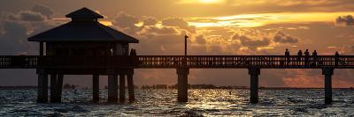 Fishing Pier Fort Myers Beach at Sunset-Philippe Hugonnard-Photographic Print
