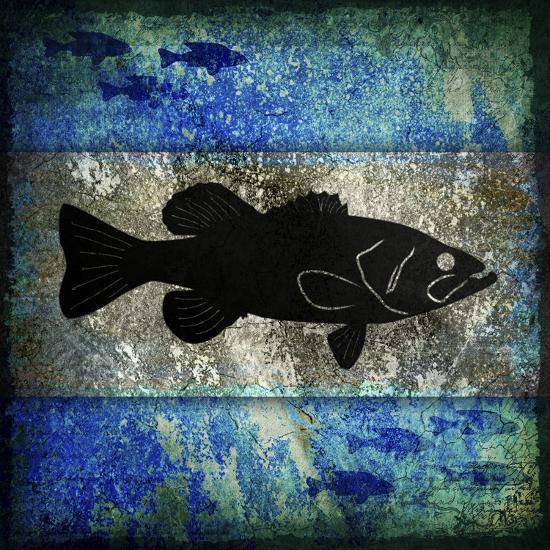 Fishing Rules Bass-LightBoxJournal-Giclee Print
