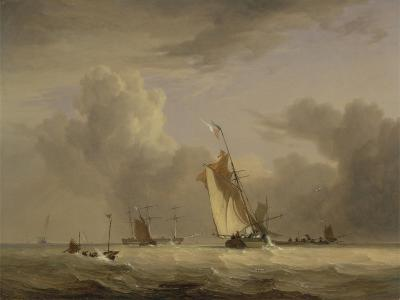Fishing Smack and Other Vessels in a Strong Breeze, 1830-Joseph Stannard-Giclee Print