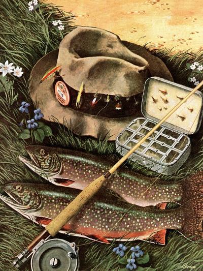 """Fishing Still Life,"" April 15, 1944-John Atherton-Giclee Print"