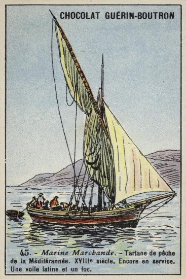 Fishing Tartane Used in the Mediterranean, 18th Century--Giclee Print