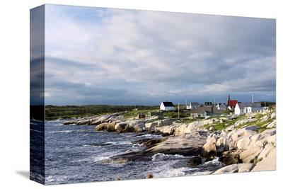 Fishing Town near Peggy's Cove--Stretched Canvas Print