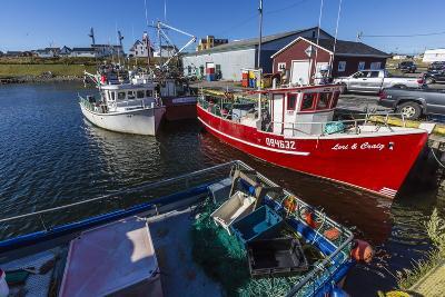 Fishing Vessels Inside the Harbor at Bonavista, Newfoundland, Canada, North America-Michael Nolan-Photographic Print