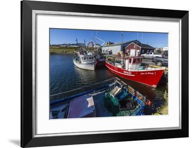 Fishing Vessels Inside the Harbor at Bonavista, Newfoundland, Canada, North America-Michael Nolan-Framed Photographic Print