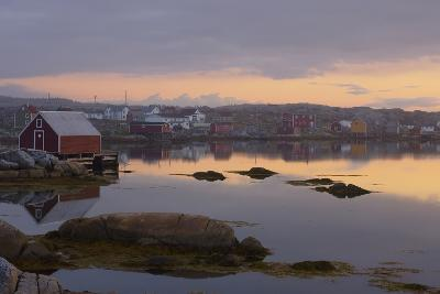 Fishing Village Along the Water's Edge at Sunset; Fogo Island, Newfoundland, Canada-Design Pics Inc-Photographic Print
