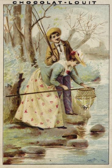 Fishing--Giclee Print