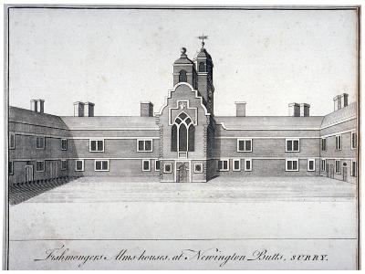 Fishmongers' Almshouses at St Peter's Hospital, Newington Butts, Southwark, London, C1750--Giclee Print