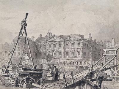 Fishmongers' Hall from North East, London, C1835-John Woods-Giclee Print