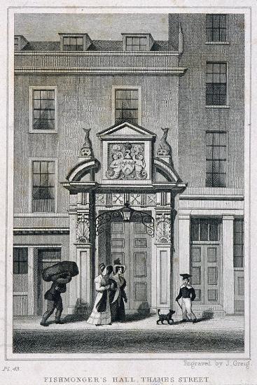 Fishmongers' Hall, Thames Street, London, C1835-John Greig-Giclee Print
