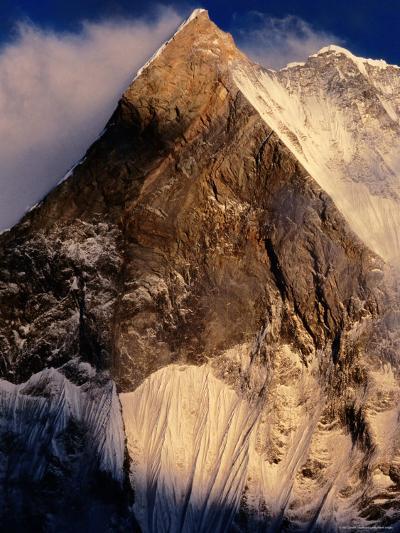 Fishtail Mountain at Sunset, Machhapuchhare, Gandaki, Nepal-Christer Fredriksson-Photographic Print