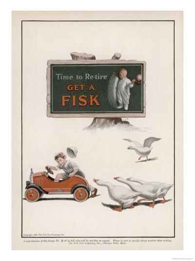 Fisk Tyres, Time to Re-Tire--Giclee Print