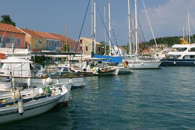 Fiskardo Harbour, Kefalonia, Greece-Peter Thompson-Photographic Print