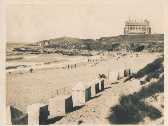 'Fistral Beach - Newquay', 1927-Unknown-Photographic Print