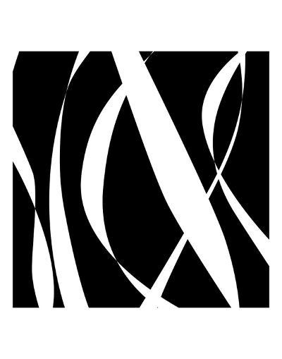 Fistral Nero Blanco III-Denise Duplock-Art Print