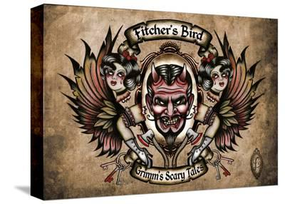 Fitchers Bird- Leighderhosen-Stretched Canvas Print