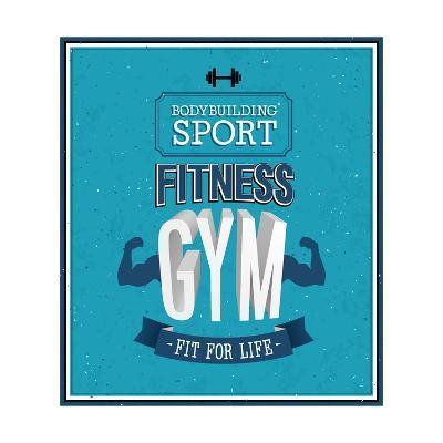 Fitness Gym Design-MiloArt-Art Print