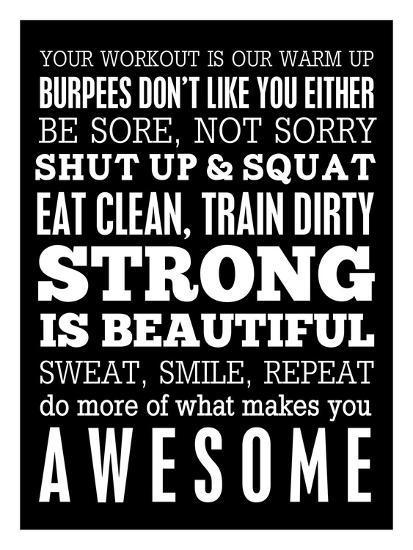 Fitness Motivation Giclee Print By Cheryl Overton Art Com