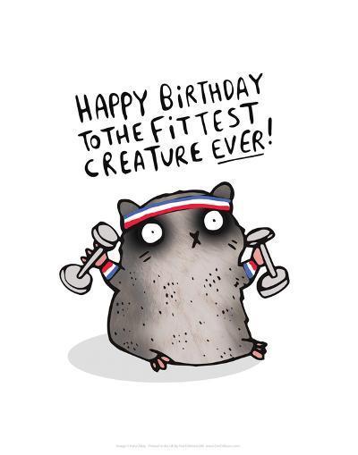 Fittest Creature Ever - Katie Abey Cartoon Print-Katie Abey-Art Print