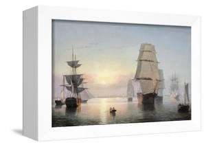 Boston Harbor, Sunset, 1850-55 by Fitz Henry Lane