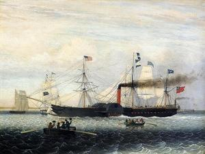 The Britannia Entering Boston Harbour, 1848 by Fitz Henry Lane