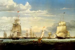Boston Harbor, 1853 by Fitz Hugh Lane