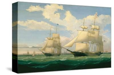 """The Ships """"Winged Arrow"""" and """"Southern Cross"""" in Boston Harbor, 1853"""