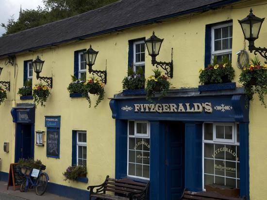 Fitzgerald's Bar in Avoca Village, A.K.A. Ballykissangel, County Wicklow, Ireland--Photographic Print