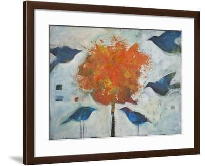 Five Birds and Maple-Tim Nyberg-Framed Giclee Print