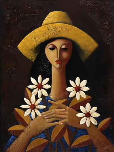 Five Daisies-Oscar Ortiz-Giclee Print