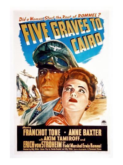 Five Graves to Cairo, Erich Von Stroheim, Anne Baxter, 1943--Photo