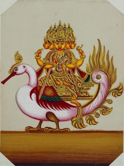 Five Headed Brahma on a Goose, India--Giclee Print
