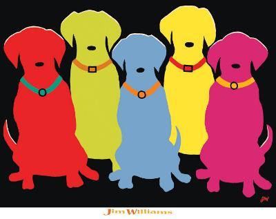Five Labs-Jim Williams-Art Print
