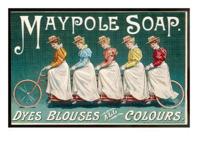 Five Ladies on One Bike--Giclee Print