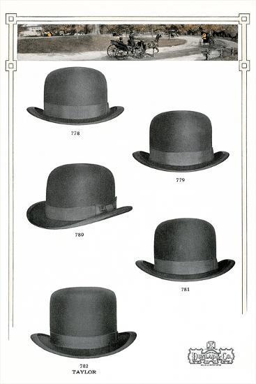 Five Men's Hats Advertisement, 1910s--Art Print