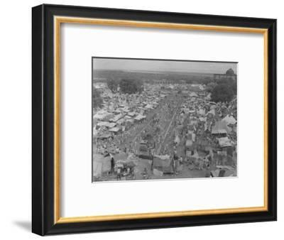 Five Million Indians Flee Shortly after the Newly Created Nations of India and Pakistan, 1947-Margaret Bourke-White-Framed Premium Photographic Print