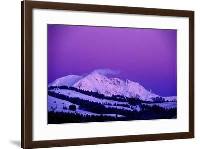 Five Minutes before Sunrise, Electric Peak and the Sky Light Up from Scattered Light in the Clouds-Tom Murphy-Framed Photographic Print