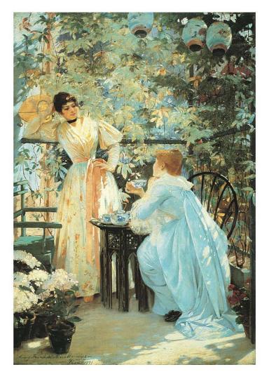 Five O'Clock Tea, 1891-Mary Fairchild MacMonnies-Art Print