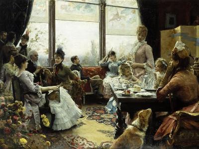 Five O'Clock Tea-Julius Leblanc Stewart-Giclee Print