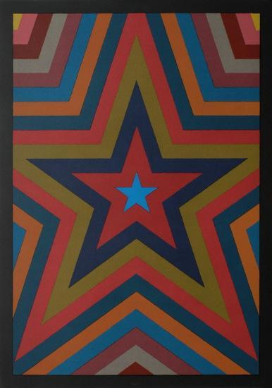 Five Pointed Star with Color Bands-Sol Lewitt-Limited Edition