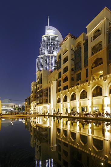 Five-Star Hotel the Address, Souk Al Bahar, Downtown Dubai, Dubai, United Arab Emirates-Axel Schmies-Photographic Print