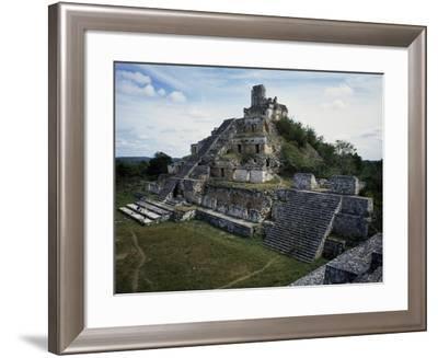 Five-Storey Building, Edzna, Campeche, Mexico. Mayan Civilization--Framed Giclee Print