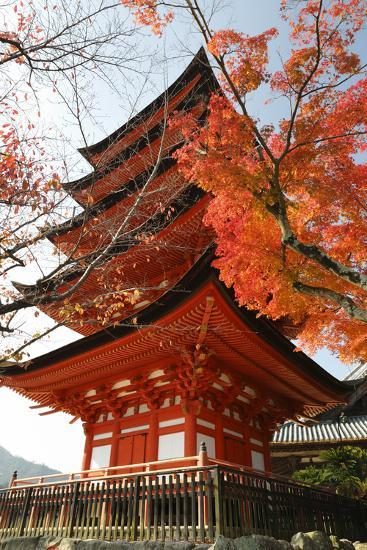 Five-Storey Pagoda (Gojunoto) in Autumn, Miyajima Island, Western Honshu, Japan-Stuart Black-Photographic Print