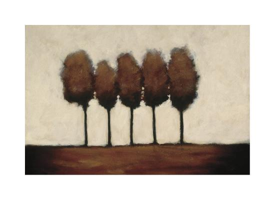 Five Trees-Rita Vindedzis-Giclee Print