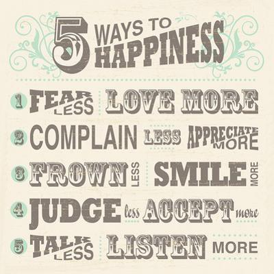 Five Ways to Happiness