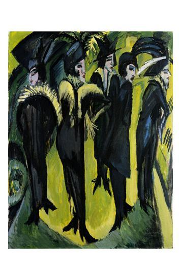 Five Women on the Stage-Ernst Ludwig Kirchner-Art Print