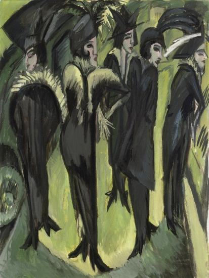 Five Women on the Street, 1913-Ernst Ludwig Kirchner-Giclee Print
