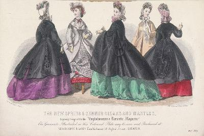 Five Women Wearing Spring and Summer Coats and Mantles, 1864-Rigolet Rigolet-Giclee Print