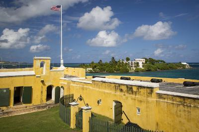 Flag at Fort Christiansvaern, St Croix, Us Virgin Islands, West Indies-Brian Jannsen-Photographic Print