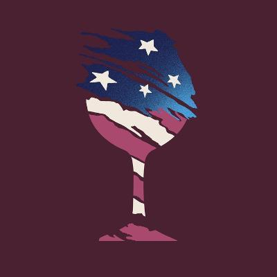 Flag Glass-Jim Baldwin-Art Print